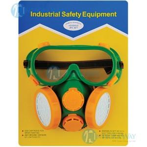 Набор 2 в 1: защитные очки + полумаска