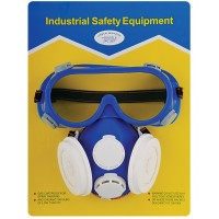 2 in 1: protective goggle + gas mask