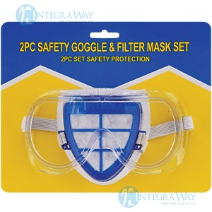 2 in 1: protective goggle + dustmask