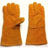 """Длинные кожаные защитные перчатки для сварки (""""А"""" класс) Binovo M708316WL"""