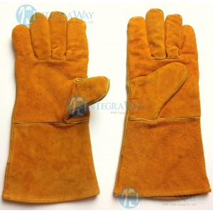 "Long leather gloves for welding (""A"" class) Binovo M708316WL"
