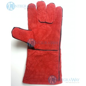 "Long leather gloves for welding (""B"" class) Binovo M708200WL"