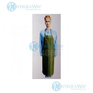 Green rubber waterproof aprons Binovo M 6075